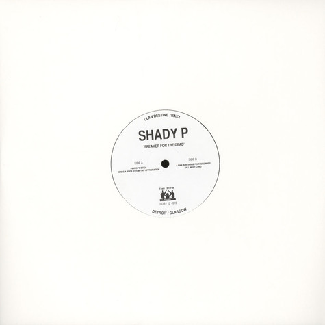 Shady P - Speaker For The Dead EP