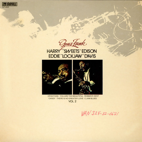 Harry Sweets Edison &  Eddie Lockjaw Davis - Opus Funk Vol. 2
