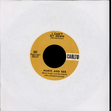 Marie Knight And Rex Garvin / Marie Knight - I Can't Sit Down / Miracles