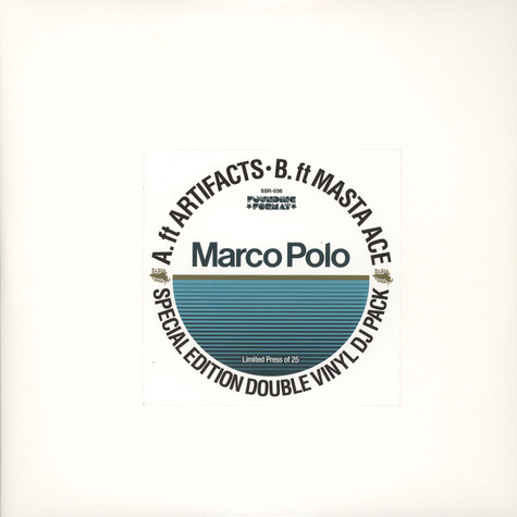 Marco Polo - Back To Work / I Refuse Blue Vinyl Double Pack