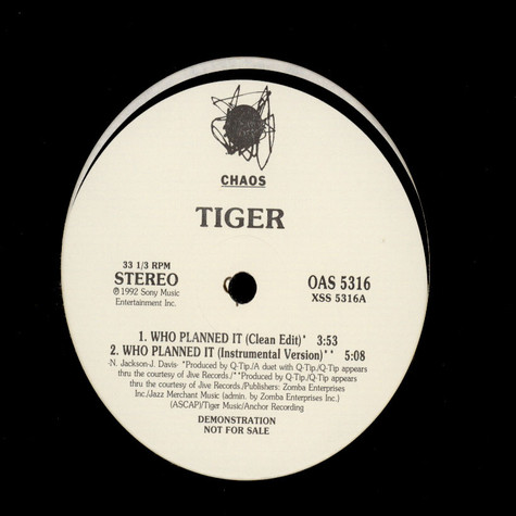 Tiger - Who Planned It