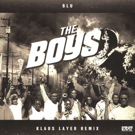Blu - The Boys Klaus Layer Remix Clear / Black Splattered Vinyl Edition