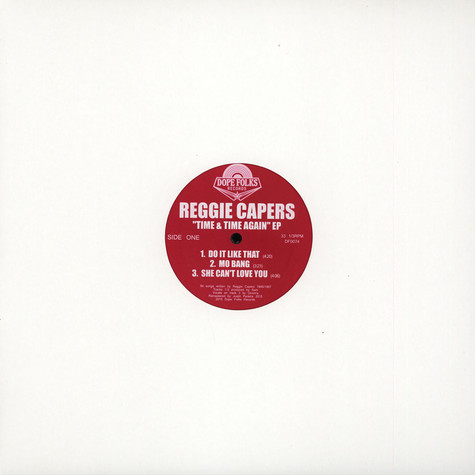 Reggie Capers - Time & Time Again EP