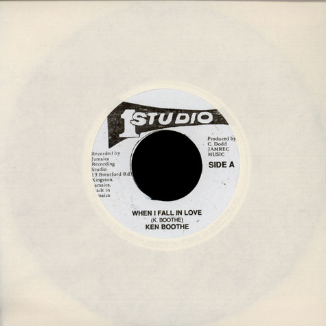 Ken Boothe / Soul Vendors - When I Fall In Love / When I Fall In Dub