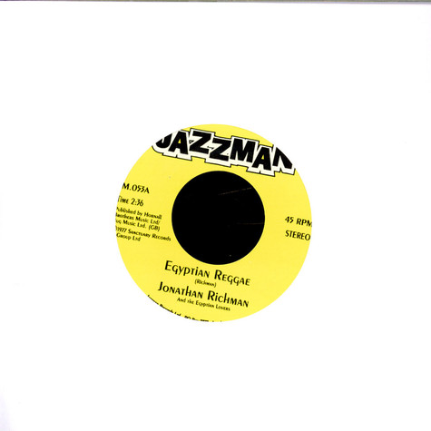 Jonathan Richman & The Egyptian Lovers - Egyptian Reggae / Our Wedding Night