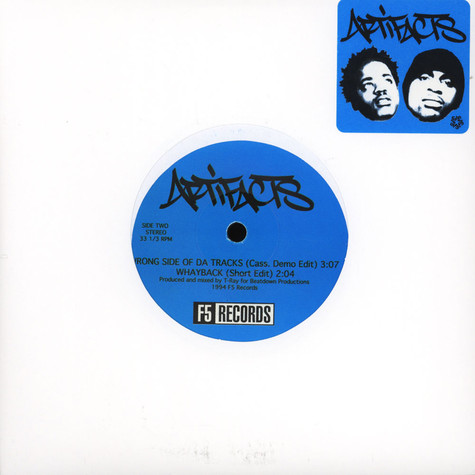 Artifacts - Wrong Side Of Da Tracks Black Vinyl Edition