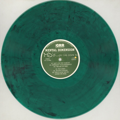 Mental Dimension - MD's... On The Come In Green Vinyl Edition