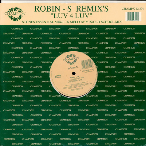 Robin S. - Luv 4 Luv (Remix's)