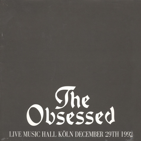 Obsessed - Live Music Hall Köln 1992