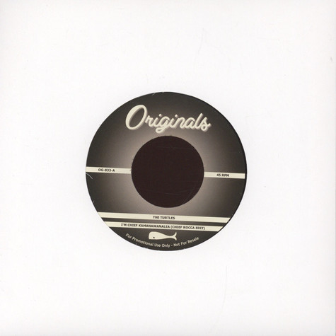 "Turtles, The / Steady B - I'm Chief Kawanamanalea Chief Rocca Edit / Serious BDP 12"" Remix"