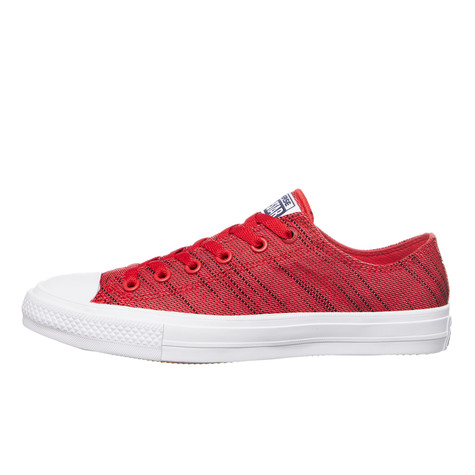 54813af101a50a Converse - Chuck Taylor All Star II Knit Ox (Red   Navy   White)