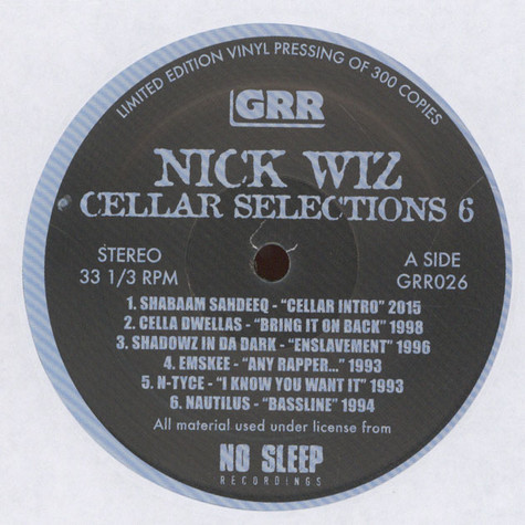 Nick Wiz - Cellar Selections Volume 6: 1992-1998