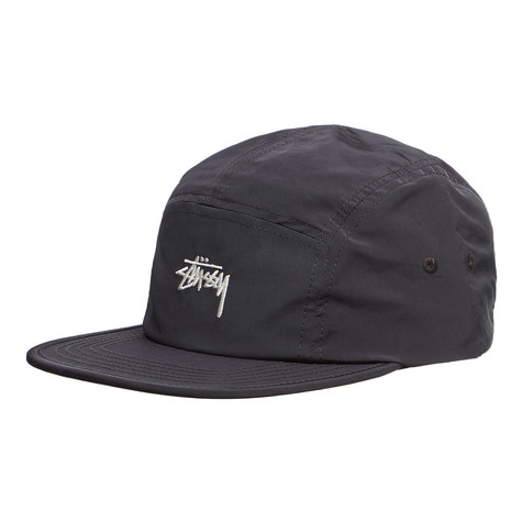 Stüssy - Nylon Poly Stock Logo Camp 5-Panel Cap (Charcoal)  830403ab229