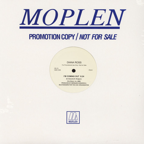 Diana Ross / Marvin Gaye - I'm Coming Out Moplen Remix / I Heard It Through The Grapevine Moplen Remix