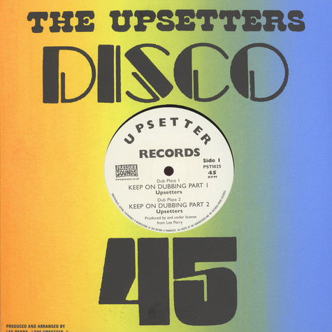 Lee Perry / Upsetters - Keep On Dubbing Limited Silk Screened Edition