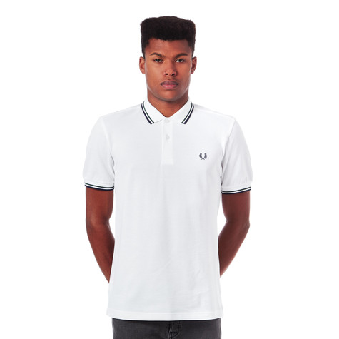 15bb4d881 Fred Perry - Twin Tipped Fred Perry Polo Shirt   ALT (White   Mid ...