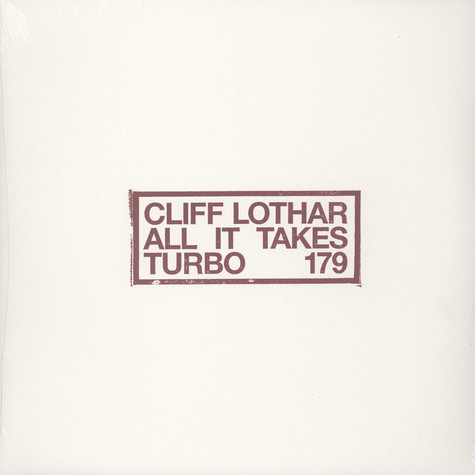 Cliff Lothar - All It Takes