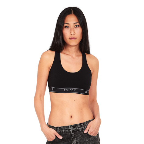 75e4df3c0e29a Stüssy - Cross Back Crop Top (Black)