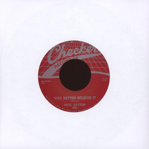 Paul Gayten - You Better Believe It / The Music Goes Round & Round