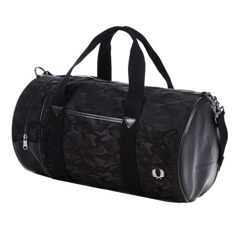 Fred Perry - Jacquard Camo Barrel Bag
