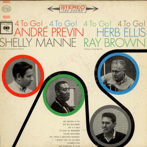 André Previn, Herb Ellis, Shelly Manne, Ray Brown - 4 To Go!
