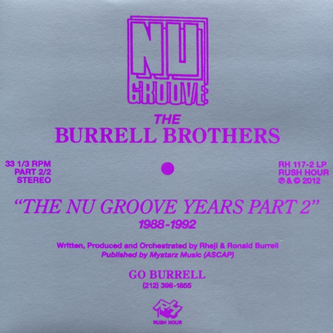 Burrell - The Nu Groove Years Part 2 1988-1992
