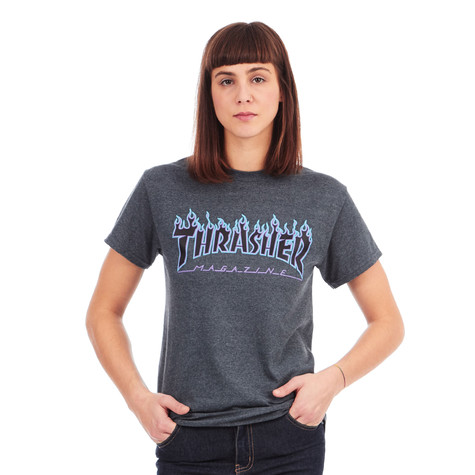 4b06602e5051 Thrasher - Women's Flame T-Shirt (Dark Heather) | HHV