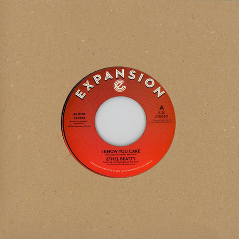 Ethel Beatty - I Know You Care / It's Your Love