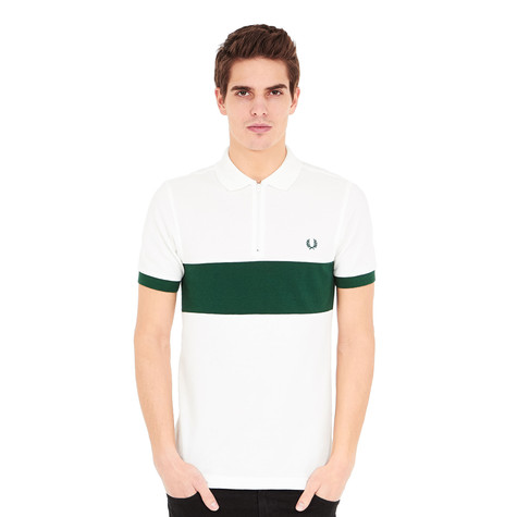 2df75db3 Fred Perry - Chest Panel Pique Shirt (Snow White) | HHV