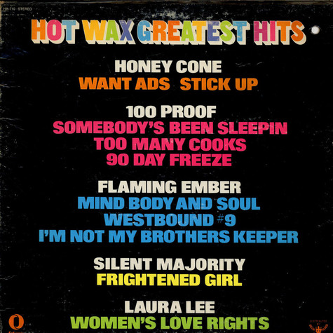 V.A. - Hot Wax Greatest Hits