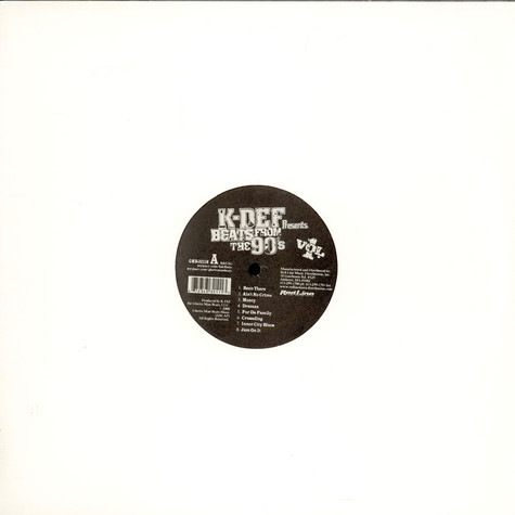K-Def - Beats From The 90s Volume 1