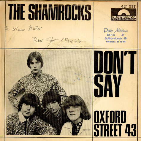 Shamrocks, The - Don't Say / Oxford Street 43
