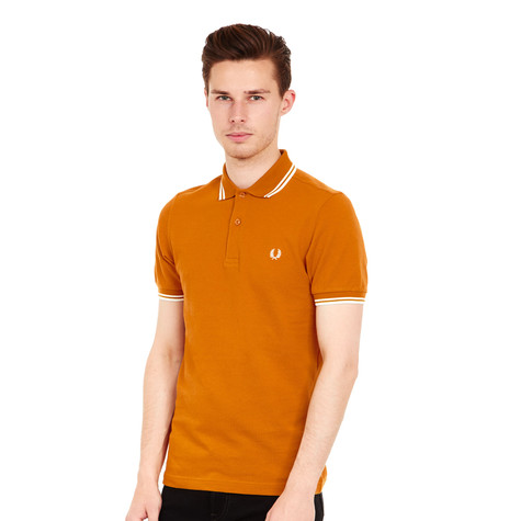 2ca06d62 Fred Perry - Twin Tipped Fred Perry Polo Shirt___ALT (Burnt Amber ...