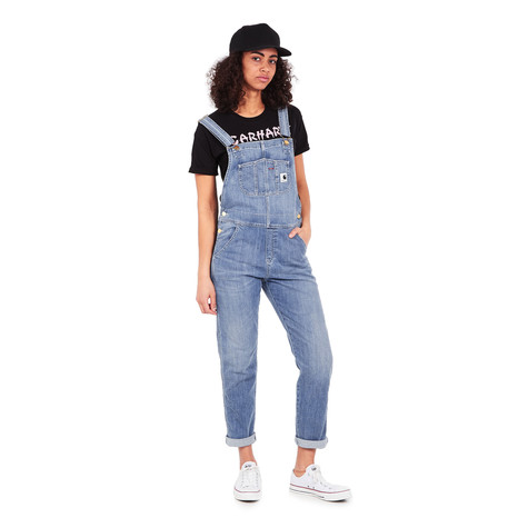 "Carhartt WIP - W' Bib Overall ""Galena"" Blue Stretch Denim, 10 oz"