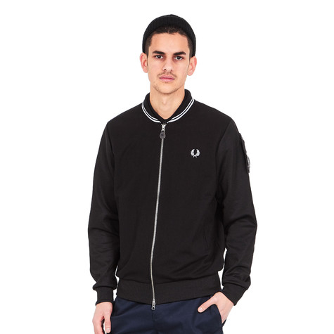 c45fa386 Fred Perry x Art Comes First - Tipped Track Jacket (Black) | HHV