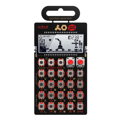 Teenage Engineering x Cheap Monday - Pocket Operator PO-28 Robot (8-bit Synthesizer und Sequencer)