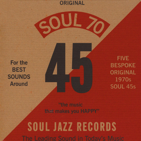 "Soul Jazz Records presents - Soul 70 7"" Box Set"