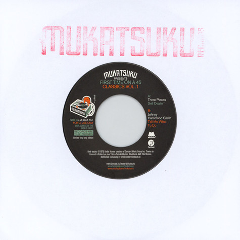 V.A. - Mukatsuku Presents First Time On A 45 Classics Volume 1