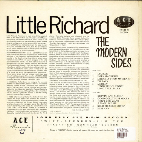 Little Richard - The Modern Sides