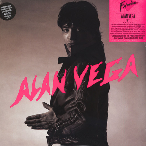 Alan Vega of Suicide - Alan Vega White Vinyl Edition