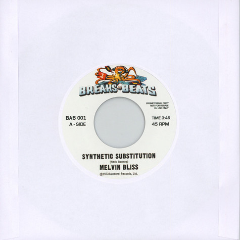 Melvin Bliss / Sweet Daddy Floyd - Synthetic Substitution  / I Just Cant Help Myself