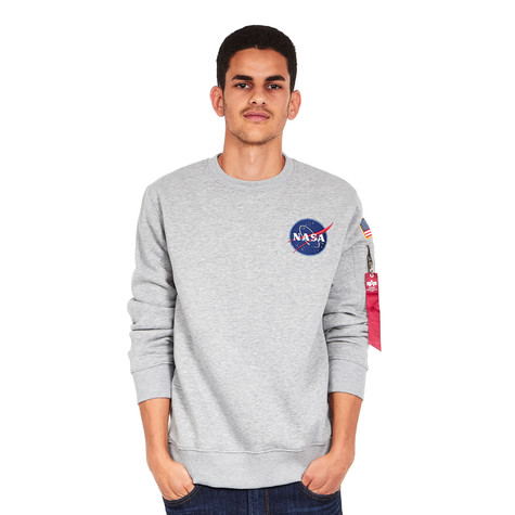 c0ff8d7443 Alpha Industries - Space Shuttle Sweater (Grey Heather) | HHV