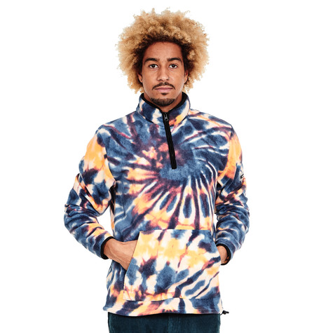 Stüssy - Tie Dye Polar Fleece Mock Sweater