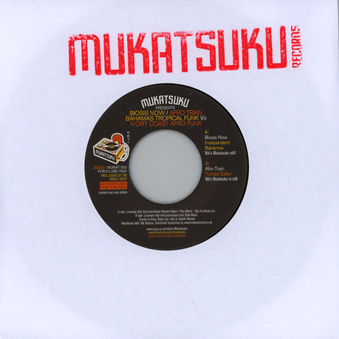 V.A. - Mukatsuku Presents Biosis Now / Afro Train Bahamas Tropical Funk Vs Ivory Coast Afro Funk