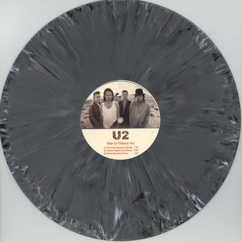 U2 - With Or Without You Remixes Grey Vinyl Edition