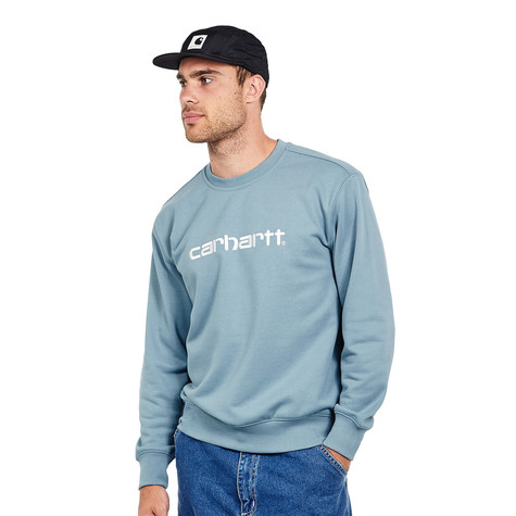 d1db831d0b Carhartt WIP - Carhartt Sweat (Dusty Blue   Wax)