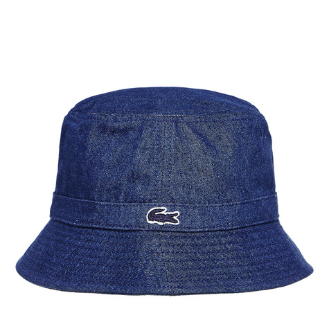744cfc3f096 Lacoste - Twill Bucket Hat (Midnight Blue Chine)