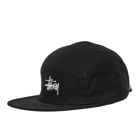 919e1b60945 Stüssy - Stock Herringbone Camp Cap (Black)