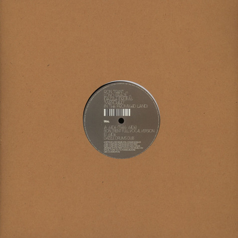 Ron Trent Vs. Lono Brazil Vs. Dazzle Drums - Manchild (In The Promised Land)