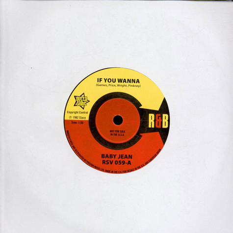 Baby Jean / Mitty Collier - If You Wanna / Don't Let Her Take My Baby